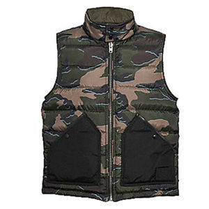 COACH F76102 MENS REVERSIBLE DOWN CAMOUFLAGE VEST
